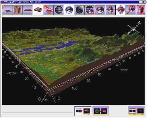 3D Geographer interface